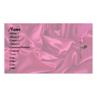 Pink Satin Heart! Double-Sided Standard Business Cards (Pack Of 100)