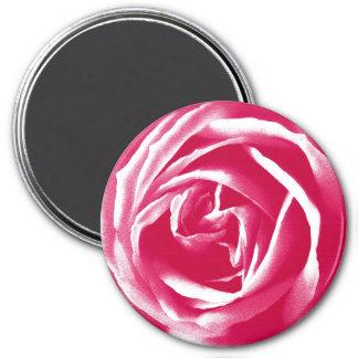 Pink satin rose print magnet
