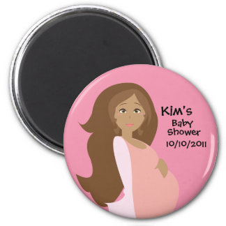 Pink Save The Date Baby Shower Magnet