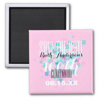 Pink Save the date Centennial Personalized Magnet