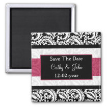 pink Save the date magnet