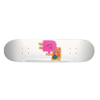 pink save the planet skateboard decks