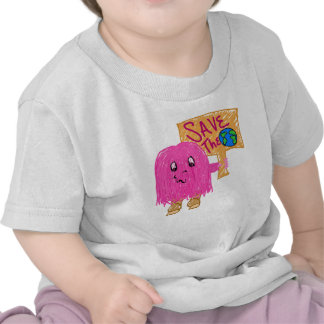 pink save the planet t shirt
