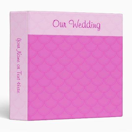 Pink Scales Pattern Wedding Binder