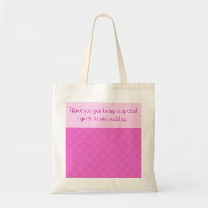 Pink Scales Pattern Wedding Budget Tote Bag