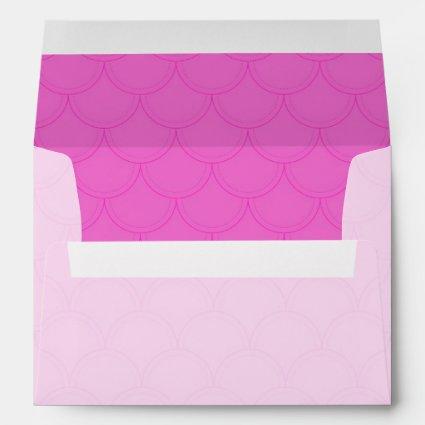Pink Scales Pattern Wedding Envelope