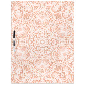 Pink Scalloped Bridal Lace Dry Erase Board