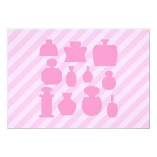 Pink Scent Bottles. Announcement
