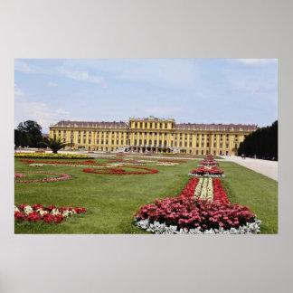 Pink Schonbrunn Castle, Vienna, Austria flowers Poster