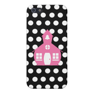 Pink Schoolhouse + Polka Dots Teacher Case For iPhone 5/5S