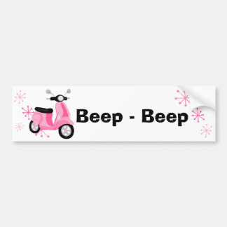 Pink Scooter Bumper Stickers