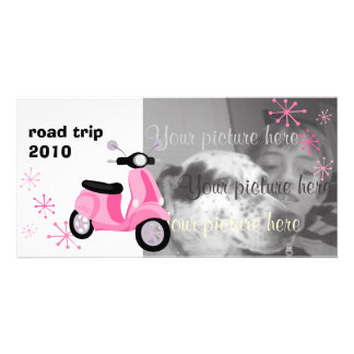 Pink Scooter Photo Card