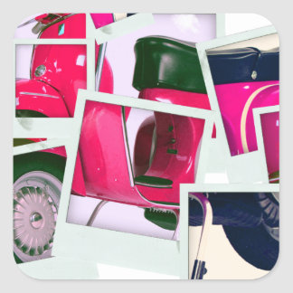 Pink Scooter Stickers