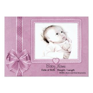 Pink Scrap Baby Announcement