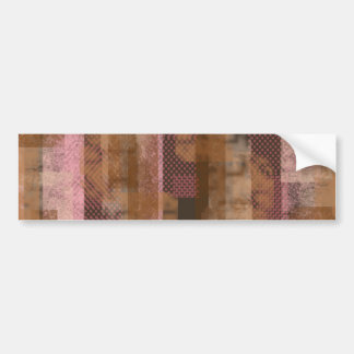 Pink Scraps Bumper Sticker