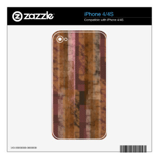 Pink Scraps iPhone 4S Decal