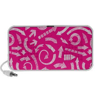 Pink Scribbled arrows doodle speakers