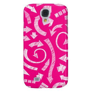 Pink Scribbled arrows  Galaxy S4 Case