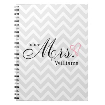 heartlocked Pink Scribbled Heart Future Mrs Wedding Planner Notebook