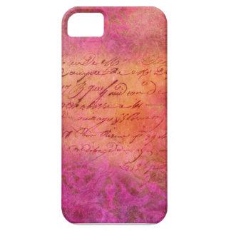 PINK SCRIPT iPhone SE/5/5s CASE