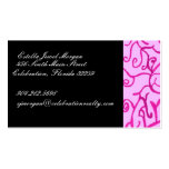 Pink Scrolls Double-Sided Standard Business Cards (Pack Of 100)