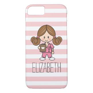 Pink Scrubs Nurse iPhone 7 Case Brunette