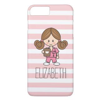 Pink Scrubs Nurse iPhone 7 Plus Case Brunette