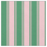 [ Thumbnail: Pink & Sea Green Colored Stripes/Lines Pattern Fabric ]