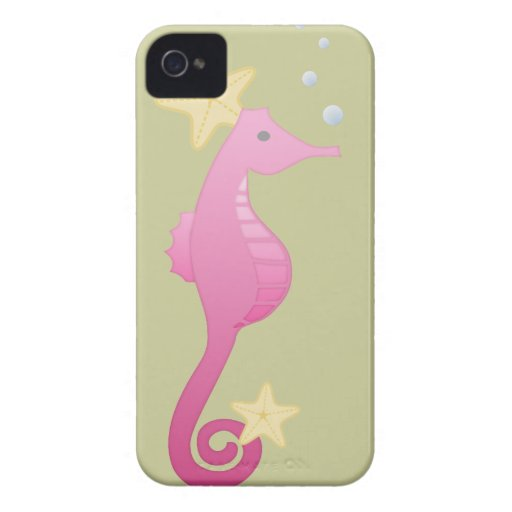 Pink Sea Horse iPhone 4 Covers