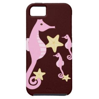 Pink Sea Horses iPhone SE/5/5s Case