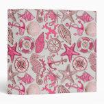 Pink Sea Pattern Binder