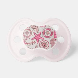 Pink Sea Pattern Pacifier