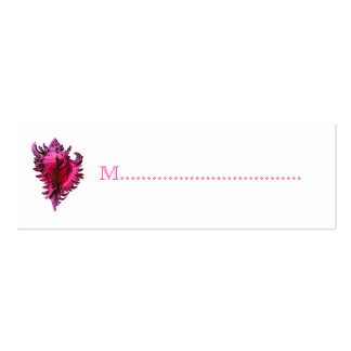 Pink Sea Shell Reception Table Seating Cards