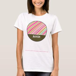 Pink & Seafoam Green Stripes T-Shirt
