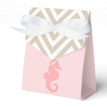 Pink Seahorse Beach Theme Favor Boxes