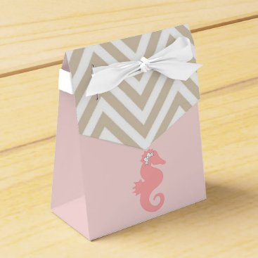 Beach Themed Pink Seahorse Beach Theme Favor Boxes