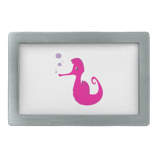 Pink Seahorse Belt Buckle