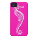 Pink Seahorse iPhone Case Case-Mate iPhone 4 Case