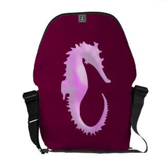 Pink Seahorse Messenger Bag