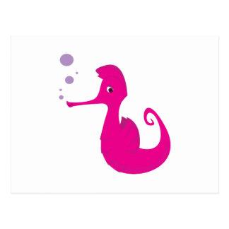 Pink Seahorse Postcard