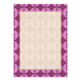 Pink Seahorses 5.5x7.5 Paper Invitation Card