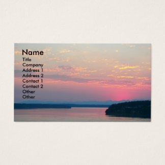 Pink Seascape Photo Business Card