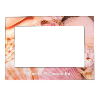 Pink Seashells Magnetic Picture Frame
