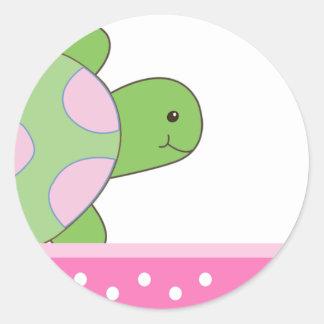 Pink Seaturtle SEA TURTLE Envelope Seals