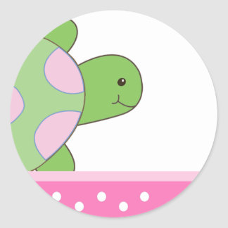 Pink Seaturtle SEA TURTLE Envelope Seals Stickers