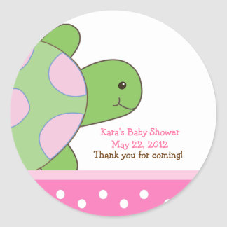 Pink Seaturtle SEA TURTLE Favor Sticker
