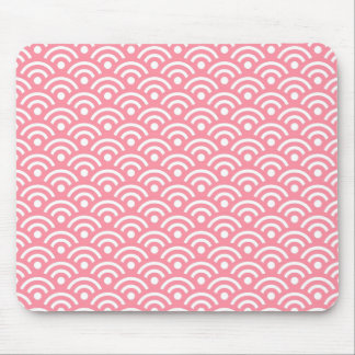 Pink Seigaiha Pattern Mousepad Mouse Pad