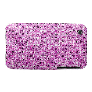 Pink Sequin Effect Phone Cases iPhone 3 Cover