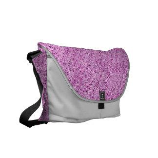 Pink Sequin Effect Rickshaw Messenger Bag
