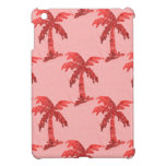Pink Sequin Grunge Palm Tree Image iPad Mini Cases